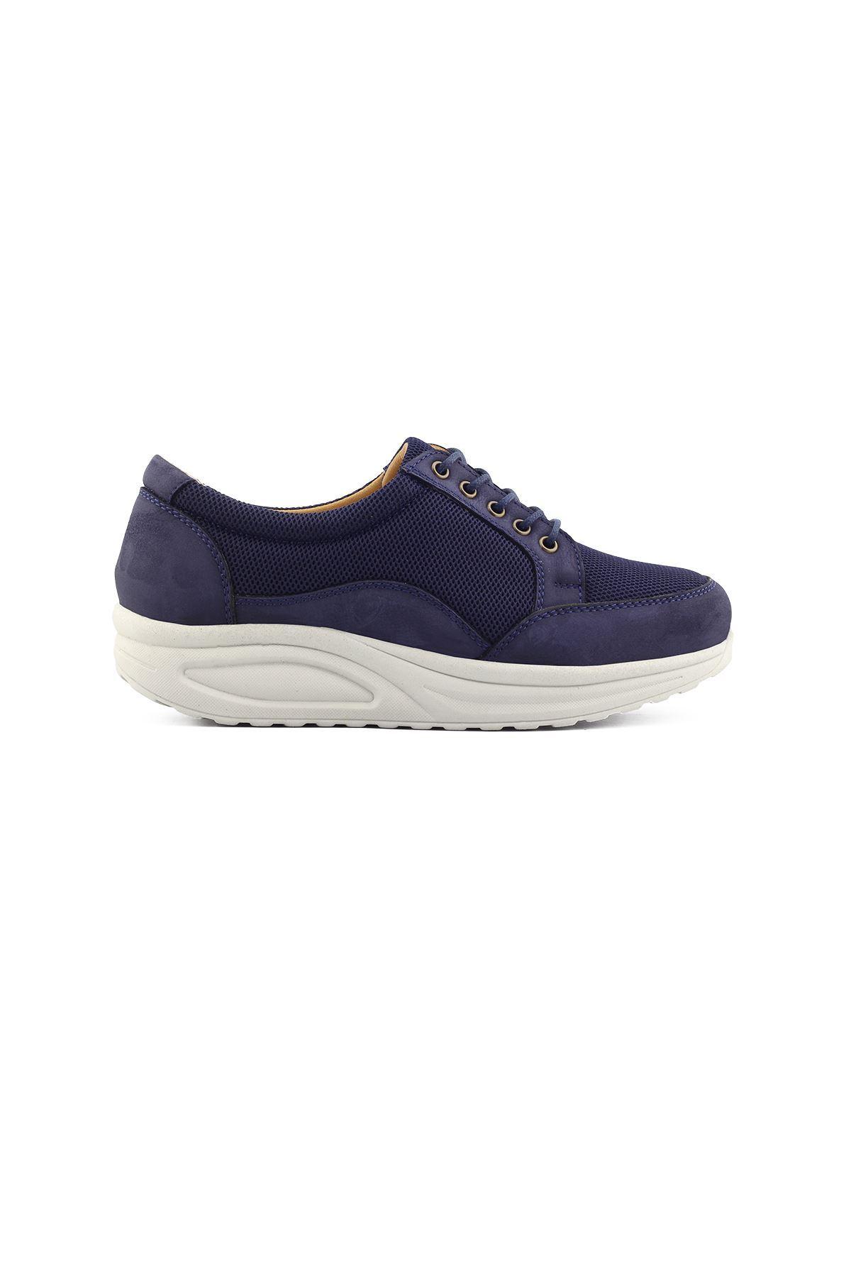 756 Nubuk Lacivert Kadın Yürüyüş Ayakkabısı