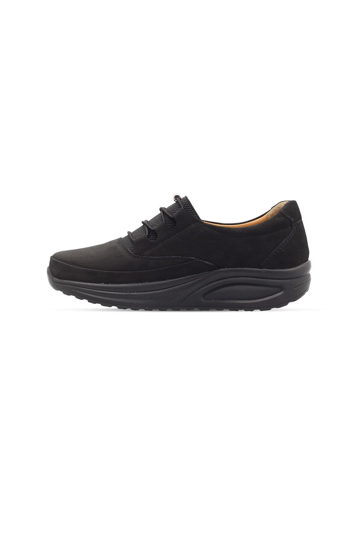 855 Nubuk Siyah Kadın Yürüyüş Ayakkabısı