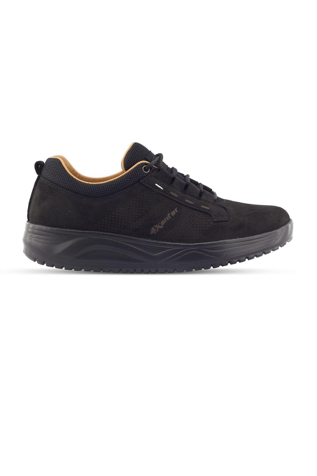 1875 Nubuk Siyah Erkek Yürüyüş Ayakkabısı