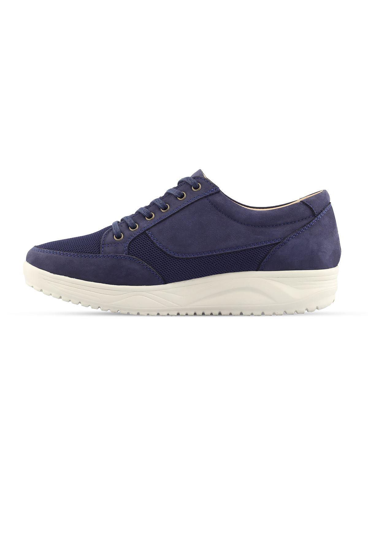 1656 Nubuk Lacivert Erkek Yürüyüş Ayakkabısı