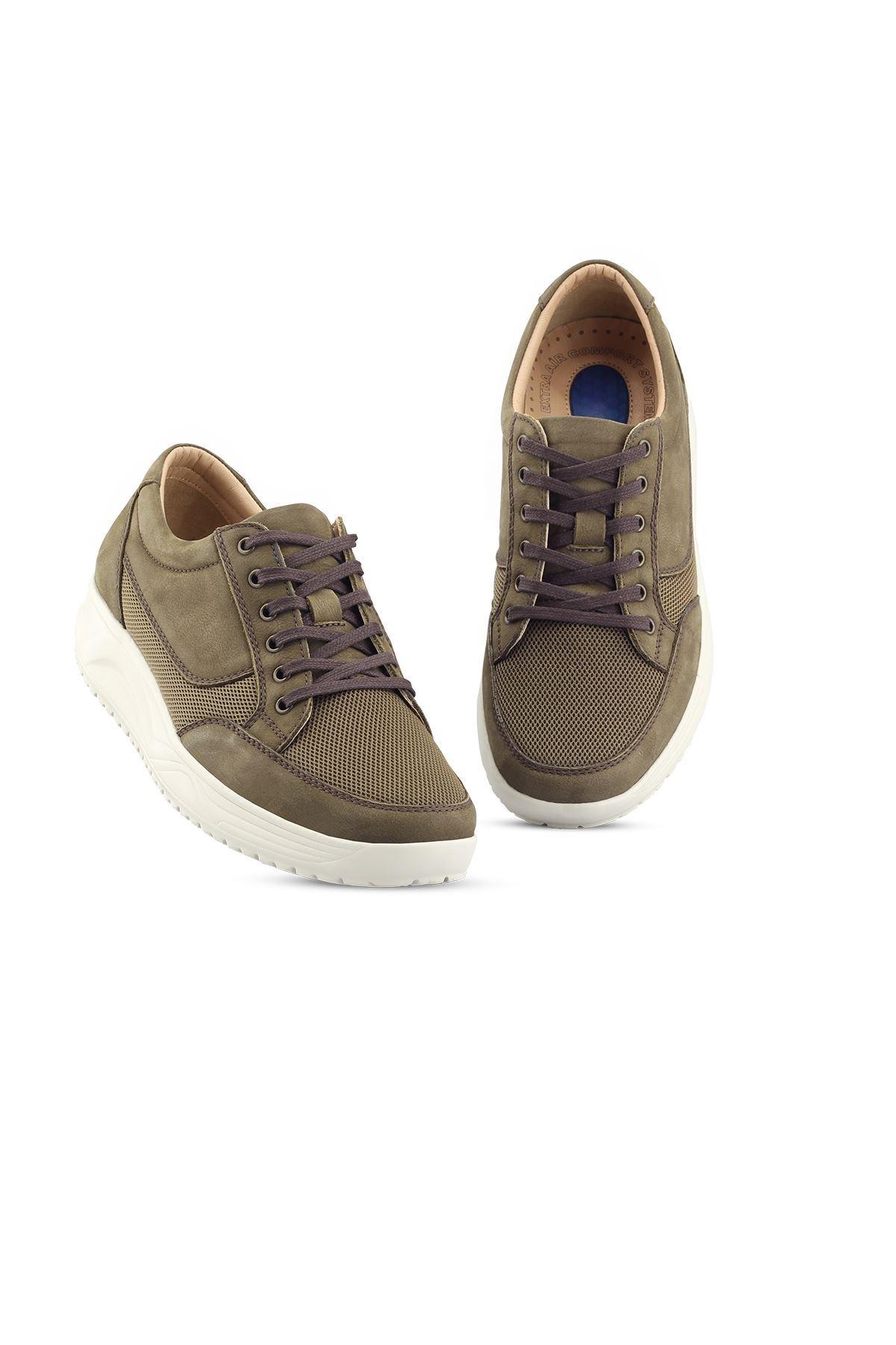 1656 Nubuk Haki Erkek Yürüyüş Ayakkabısı