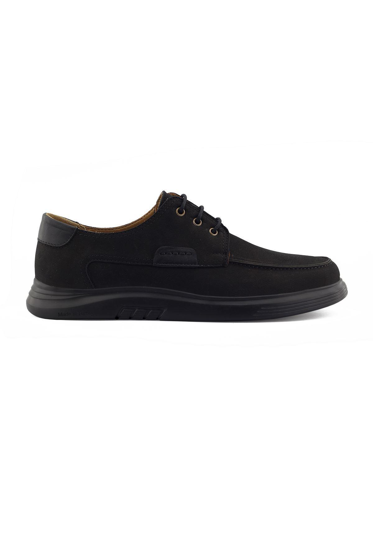 2101 Nubuk Siyah Stil Erkek Ayakkabı