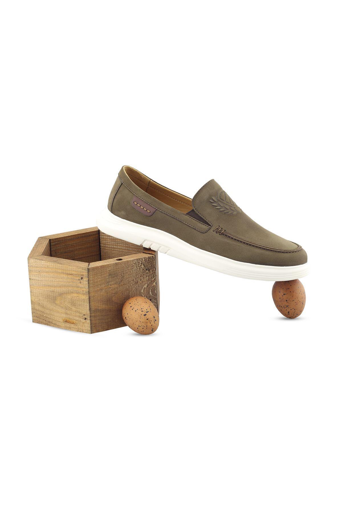 2105 Nubuk Haki Stil Erkek Ayakkabı
