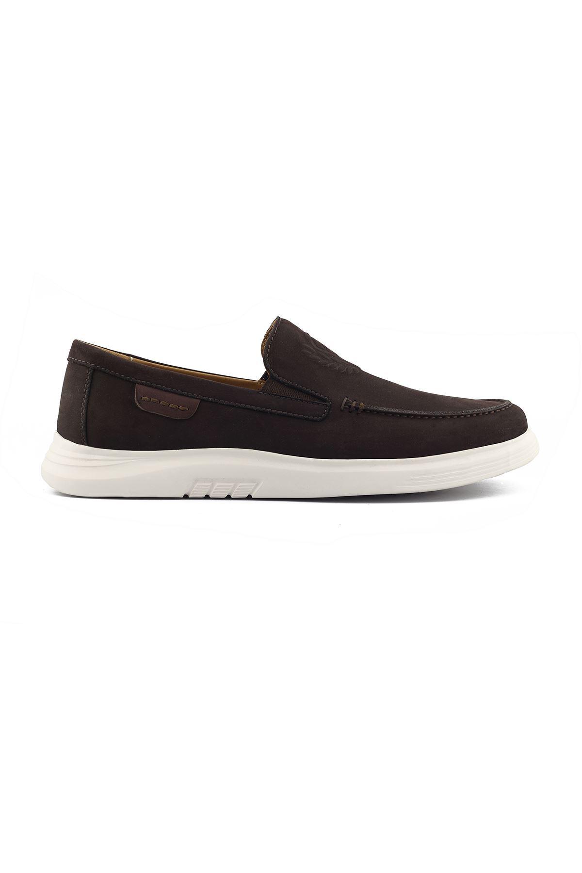 2105 Nubuk Kahve Stil Erkek Ayakkabı