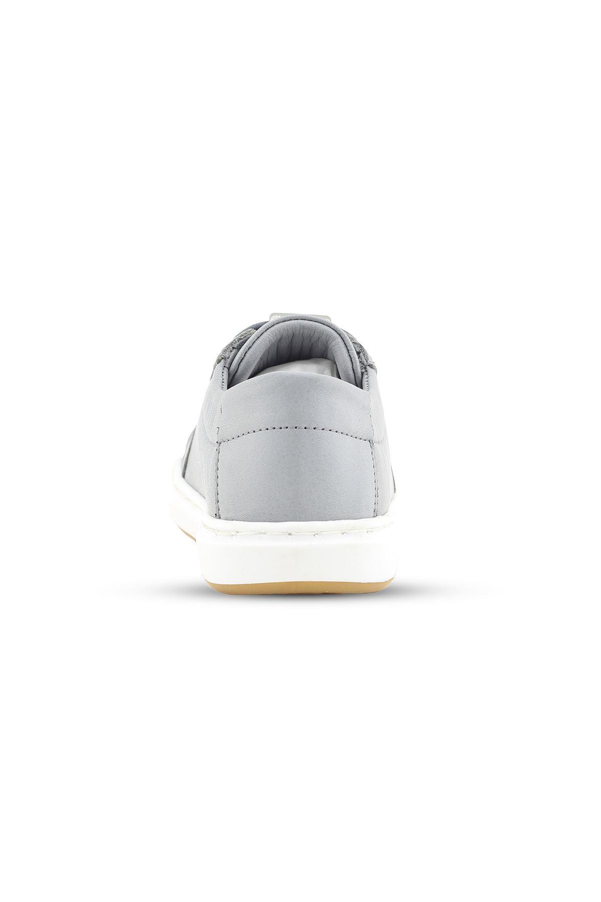 Gri Hakiki Deri Bebek/Çocuk ilk Adım Günlük Spor Ayakkabı - BB0405 GRİ