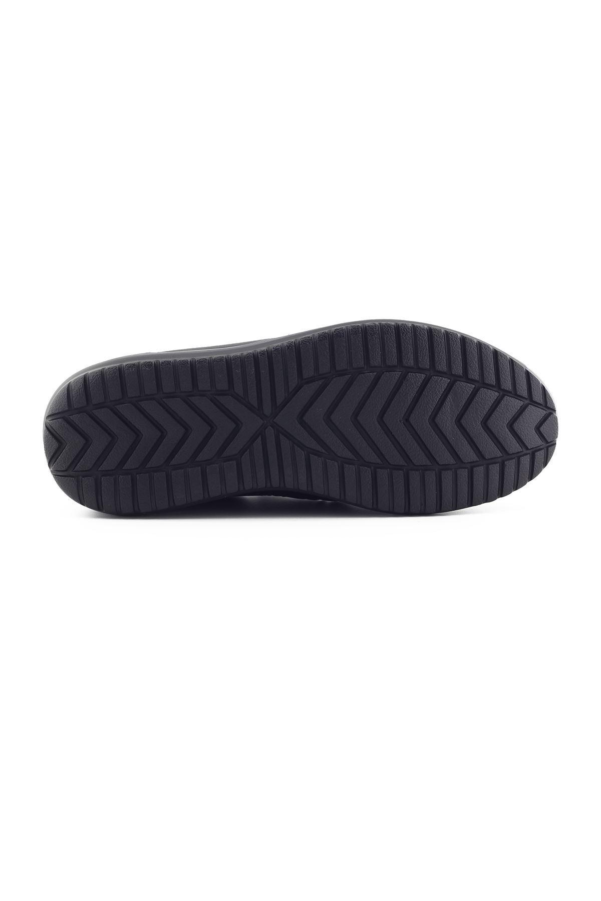 1650 Siyah Erkek Büyük Numara Yürüyüş Ayakkabısı (45-46)