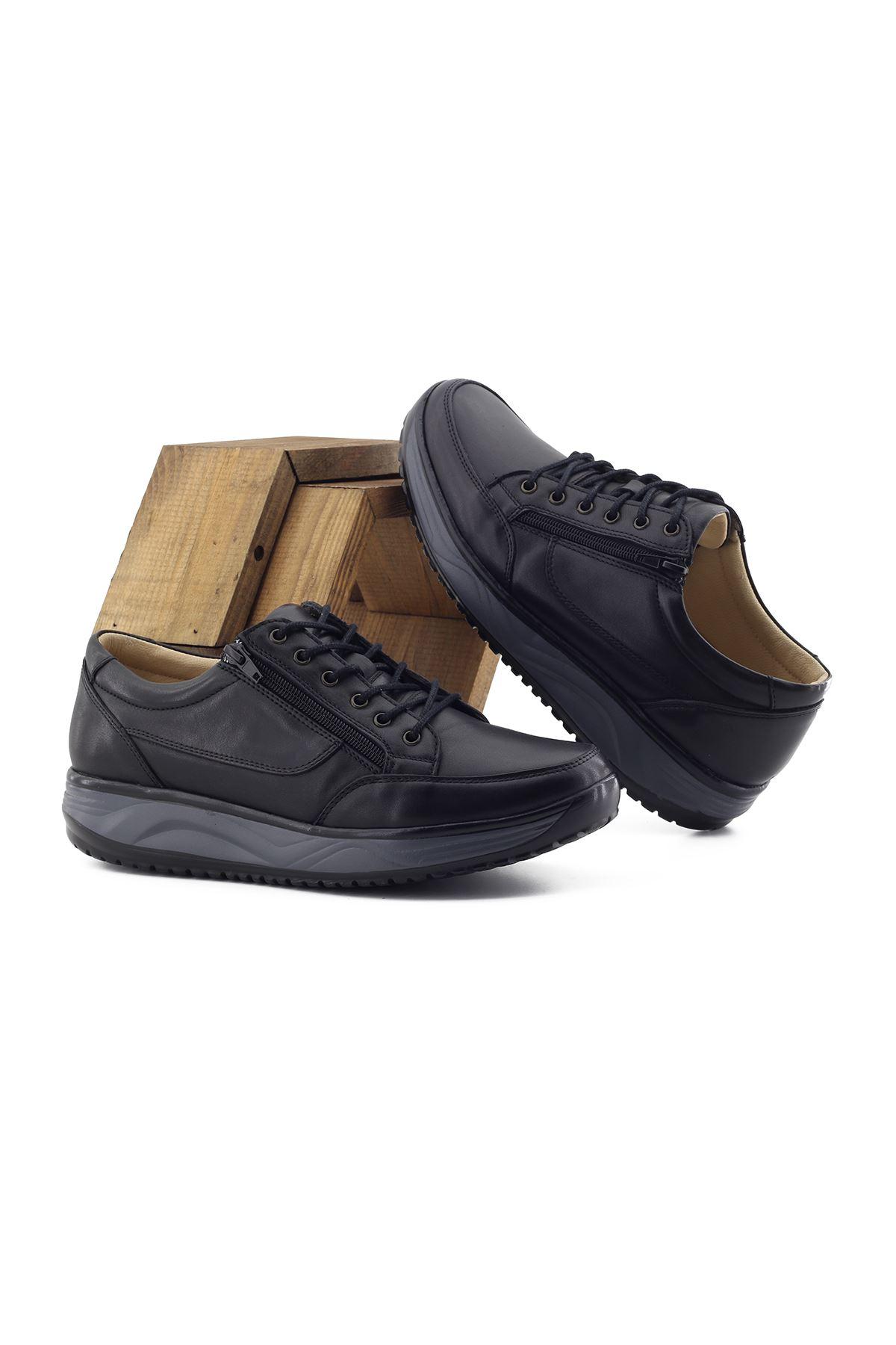 1655 Siyah Erkek Büyük Numara Yürüyüş Ayakkabısı (45-46)