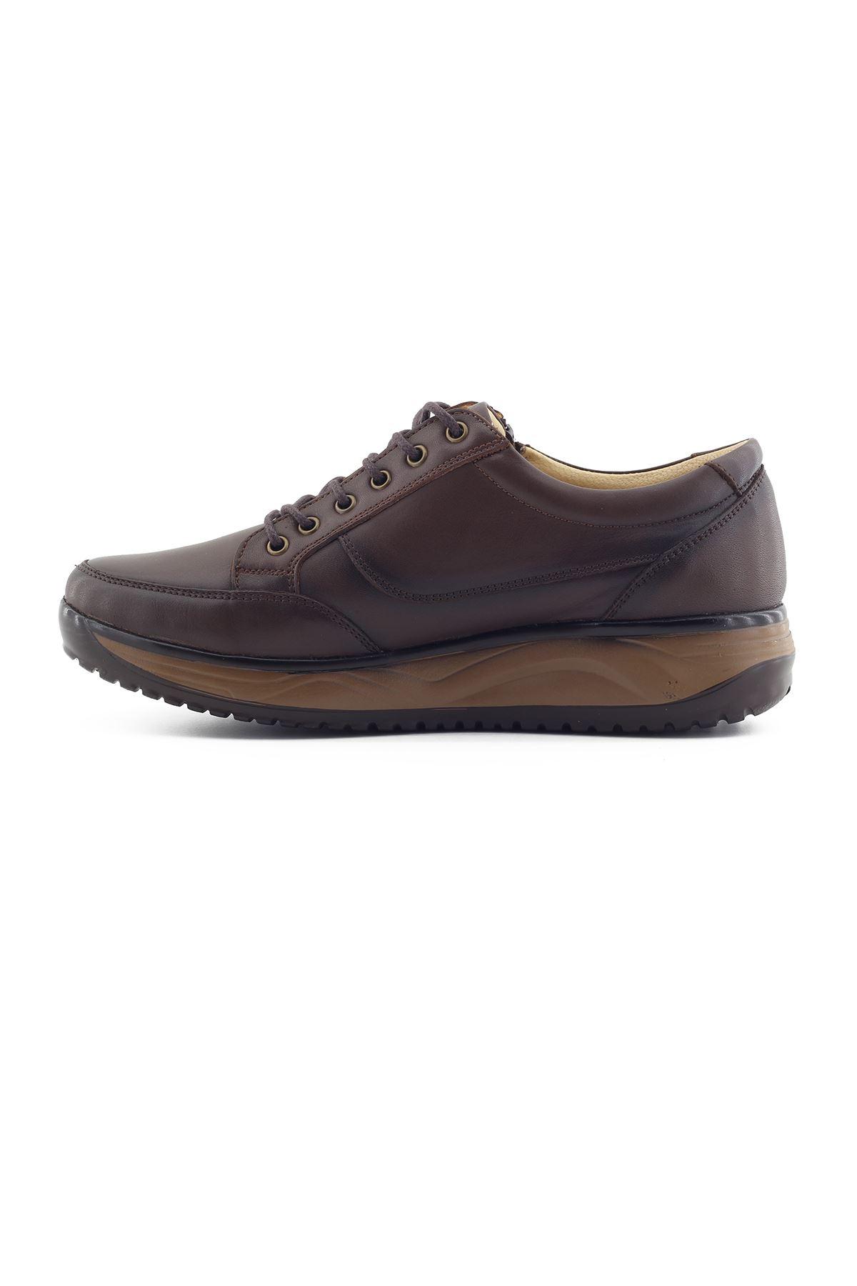1655 Kahve Erkek Büyük Numara Yürüyüş Ayakkabısı (45-46)