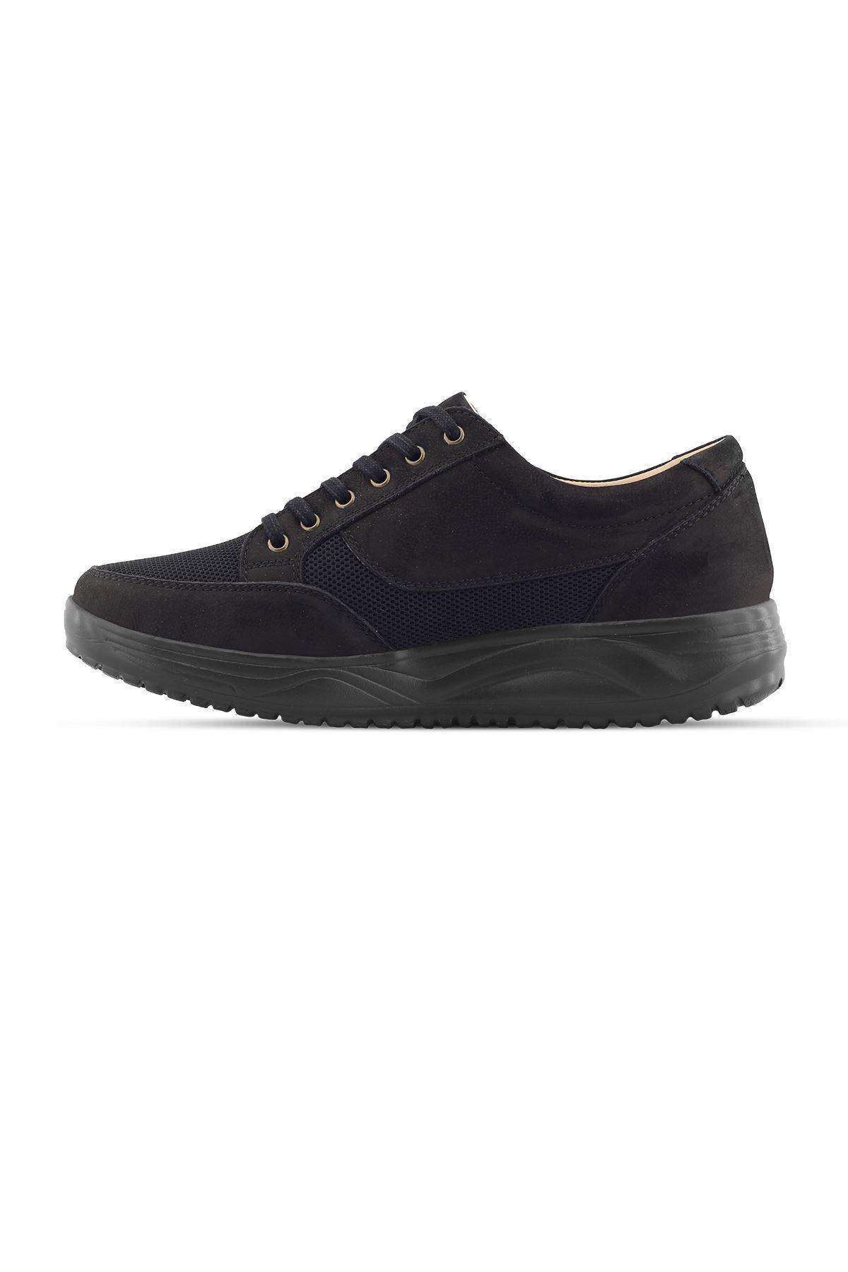 1656 Nubuk Siyah Erkek Büyük Numara Yürüyüş Ayakkabısı (45-46)